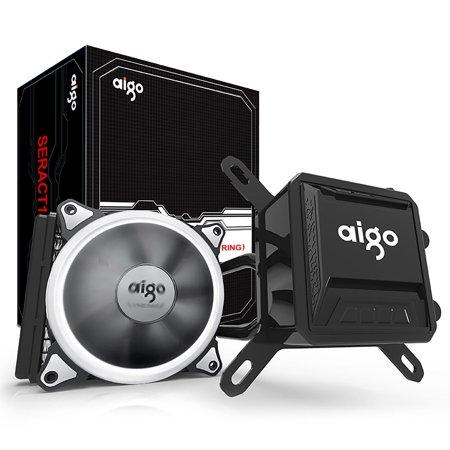 Aigo CPU Liquid Cooler Kit 120mm Fans Water Cooling Radiator