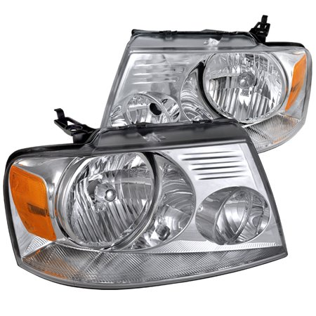 Spec-D Tuning 2004-2008 Ford F150 Headlights Lamps Pair 2004 2005 2006 2007 2008 (Left +
