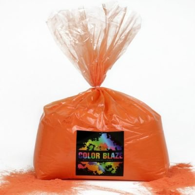 Color Powder Orange - 5 Pounds - Ideal for Color Runs, Holi Festivals, Color Wars and more!