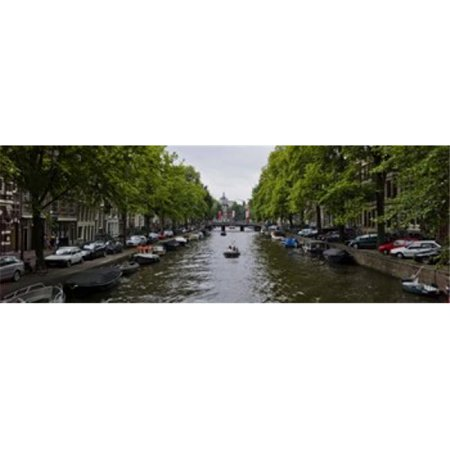 Boats in a canal  Amsterdam  Netherlands Poster Print by  - 36 x 12 - image 1 of 1