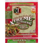 "OLE Mexican Foods Xtreme Wellness Wrap Spinach & Herbs 8"" Tortillas, 8 ct"