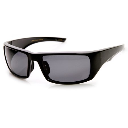 Beton - Mens Polarized Action Sports Rectangle Wraparound Sunglasses - (Action Sunglasses)