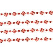 12'  Peppermint Twist Red and White Shatterproof Candy Christmas Garland