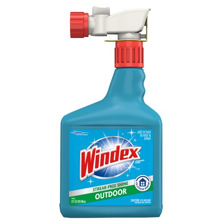 (2 Pack) Windex Outdoor Sprayer, Blue Bottle, 32 fl oz Cleaner 32 Oz Pump