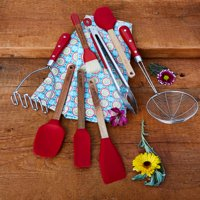 The Pioneer Woman, Frontier Collection 8-Piece Kitchen Tool and Utensil Set, Red