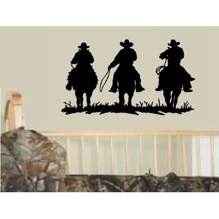 Decal ~ COWBOYS RIDING ~ WALL DECAL, HOME DECOR 13