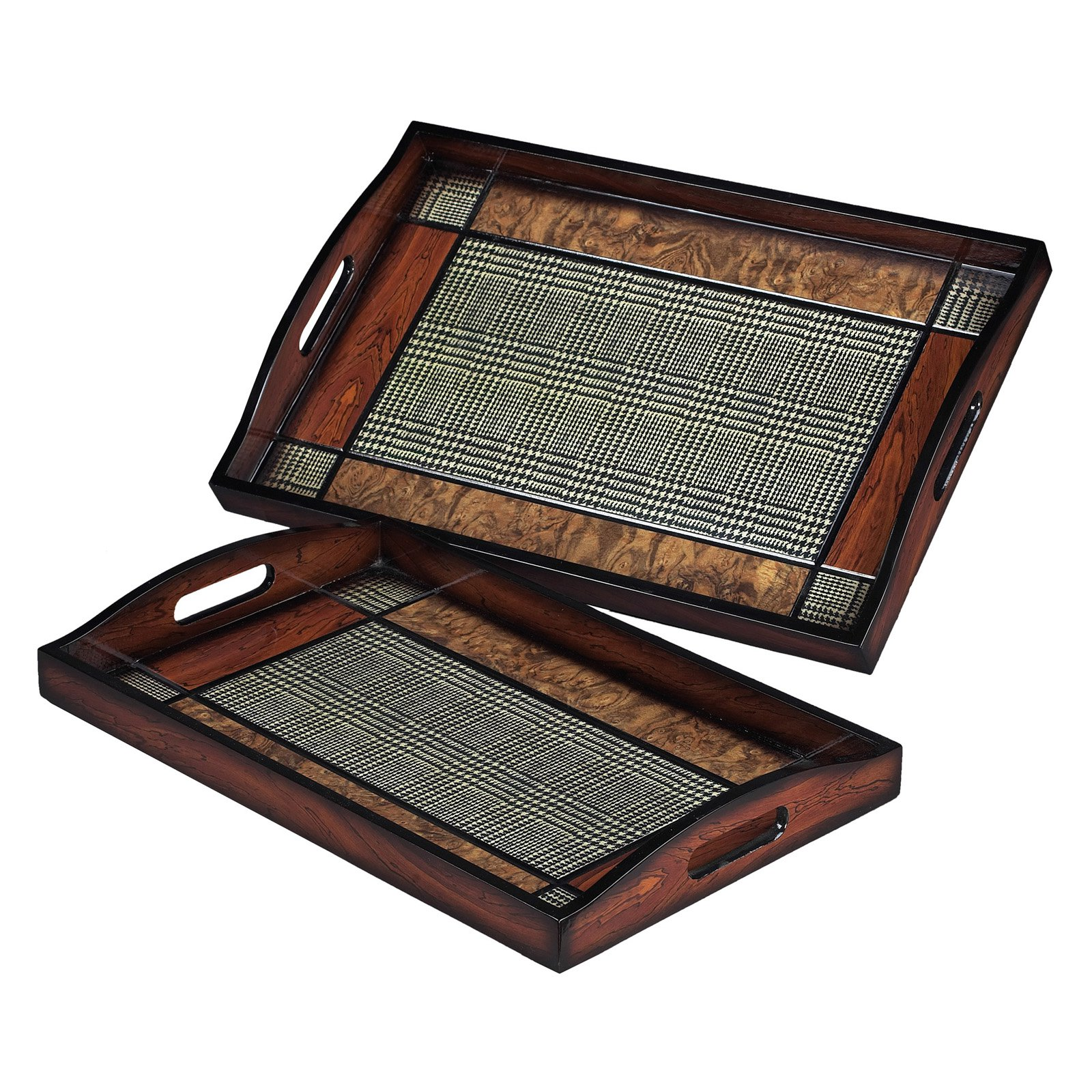 Elk Lighting Checked Trays - Set of 2