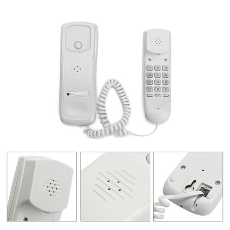 Meigar Advanced Telephones Wall Mountable Home Corded Phone, Phones For Seniors with Telephone Land Line, White