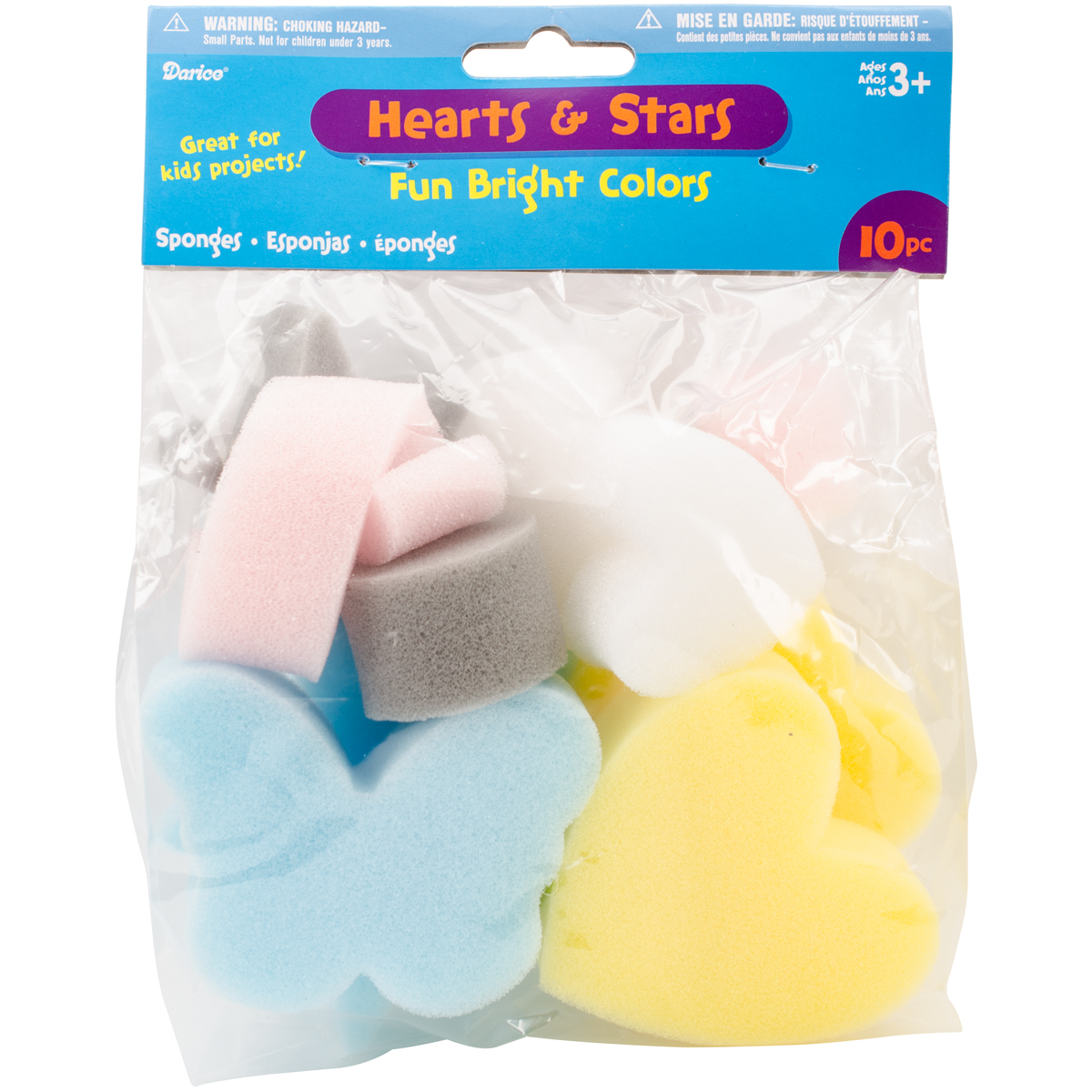 Sponge Shapes 10/Pkg-Hearts & Stars - image 1 de 1