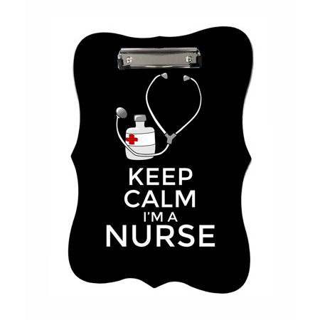 Keep Calm I'm a Nurse - Benelux Shaped 2-Sided Hardboard Clipboard - Dry Erase (Nurse Clipboard)