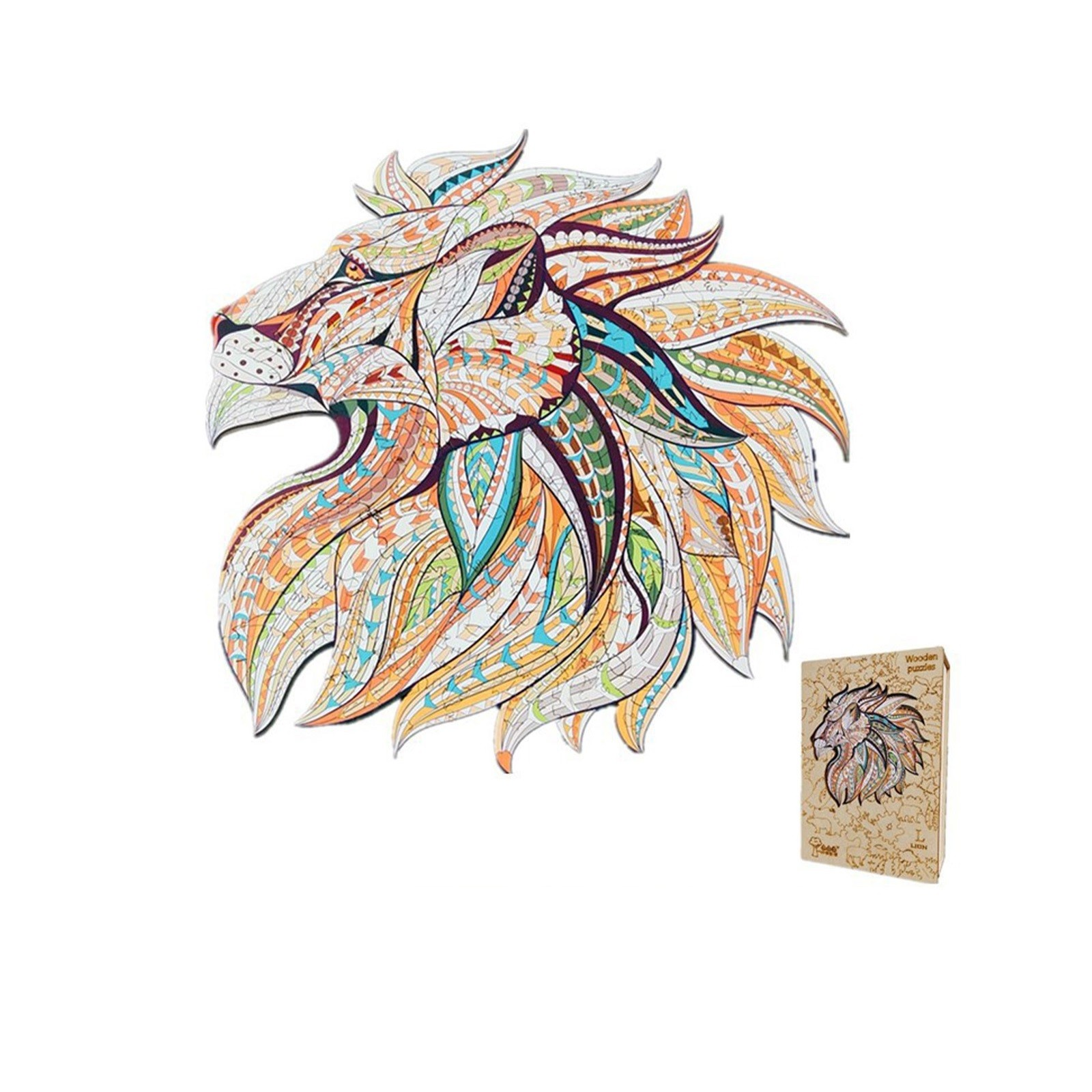 Wooden Puzzle Mysterious Animal Shaped Christmas Gift Wooden Jigsaw Puzzle