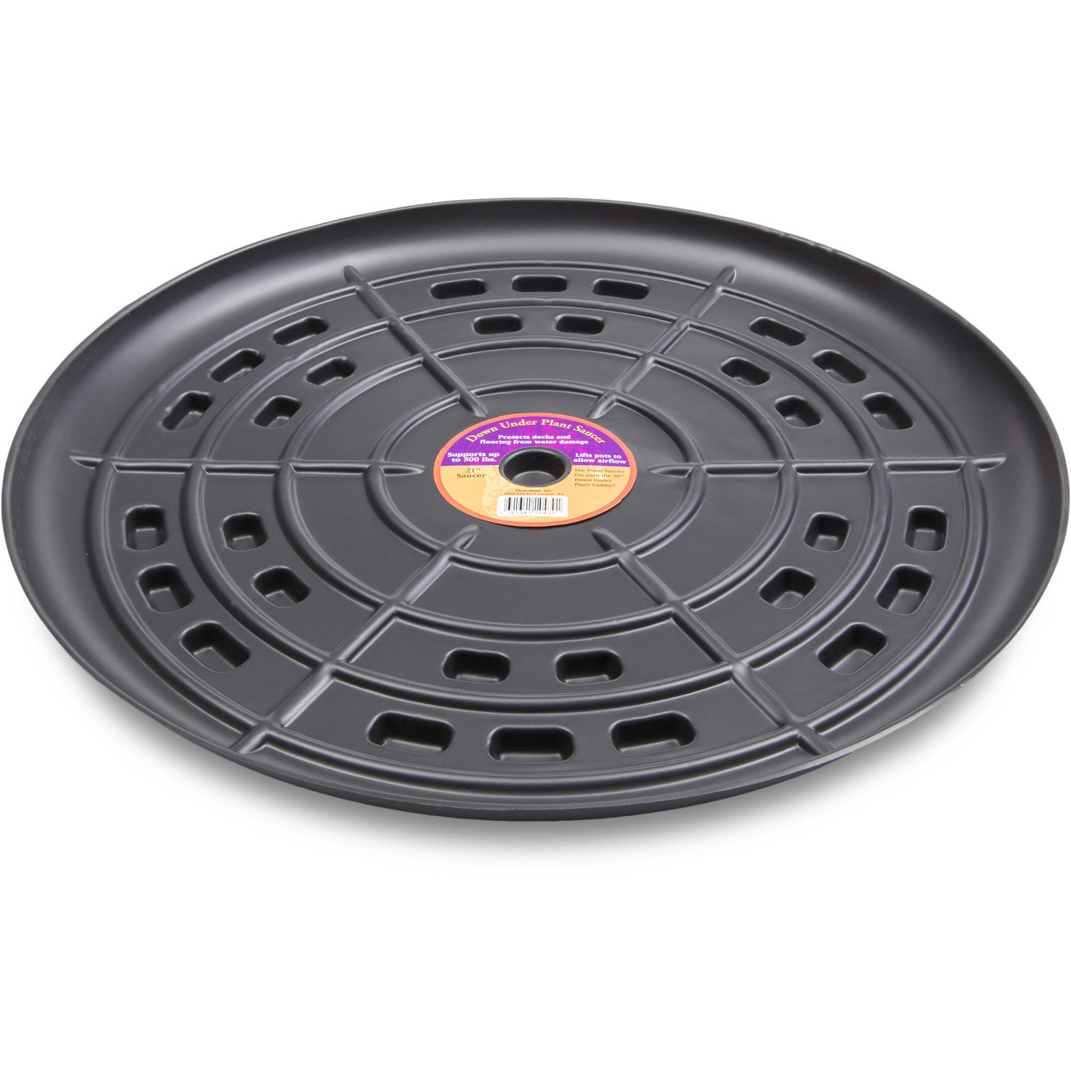 "Down Under Plant Caddie 52110 21"" Black Saucer"