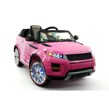 Range Rover Style 12V Kids Ride On Car Mp3 Battery Powered Led Wheels Rc Remote   Pink