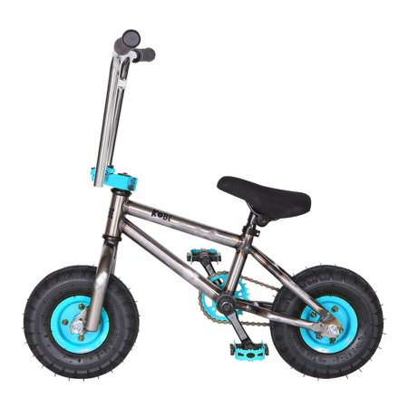 """Kobe """"Rusty Rat Rod"""" Mini BMX - Off-Road to Skate Park, Freestyle, Trick, Stunt Bicycle 10"""" Wheels for Adults and Kids - Blue - image 4 de 12"""