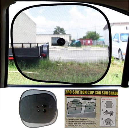 2 Sun Shade Visor Shield Side Rear Window Car Auto Mesh Screen Baby Sunscreen ! (Rear Windows)