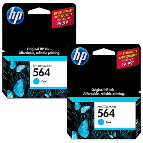 HP 564 Cyan Original Ink Cartridge  with Extra Cyan
