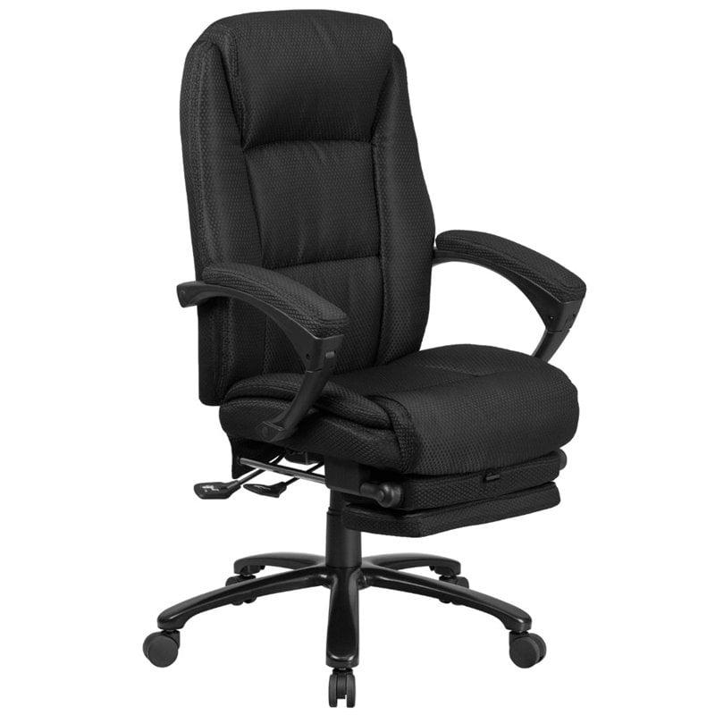Scranton & Co High Back Reclining Swivel Office Chair in Black