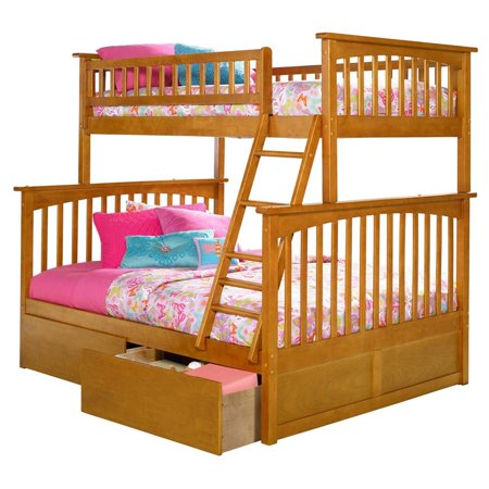 Atlantic Furniture Columbia Urban Twin Over Full Storage Bunk Bed