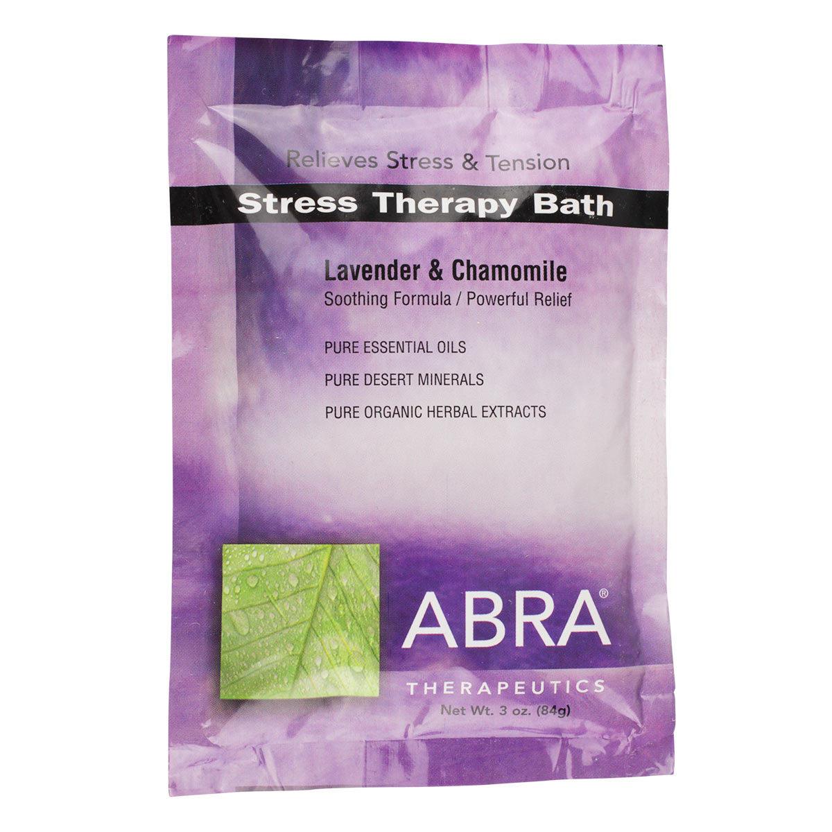 Stress Therapy (Lavender + Chamomile) Bath Salt by Abra (3oz Powder)