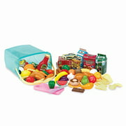 Play Circle By Battat Pantry In A Bucket Pretend Play Food Set And Storage Container With Lid Realistic & Durable Toy Kitchen Accessories For Kids Ages 3 And Up (79 Pieces), Multicolor (Pc2210Z)