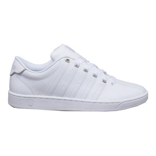 K-Swiss Court Pro II CMF Men Round Toe Leather White Sneakers by K-Swiss