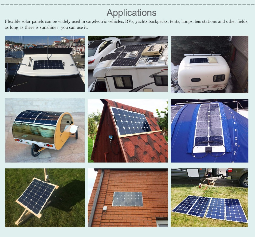 Elfeland 3Pcs 10W 12V PolyCrystalline Solar Cells Solar Panel Module  Battery Charger with 3m Cable Clip For Car RV Boat