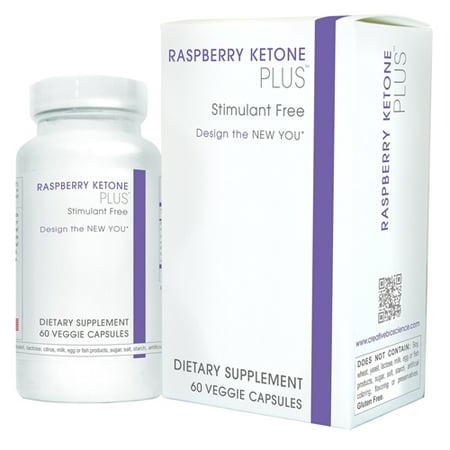 Creative Bioscience Raspberry Ketone Plus Veggie Capsules Dietary Supplement  60 Count