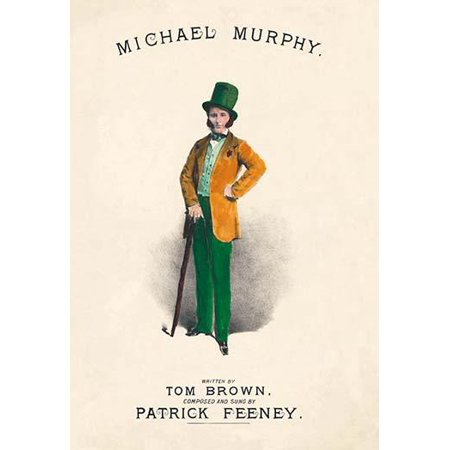 Irish sheet music by Tom Brown and Patrick Feeney  The song theme of Michael Murphy  Mr Murphy adorns the cover in very dapper attire Poster Print by - Halloween Theme Song Music Sheet