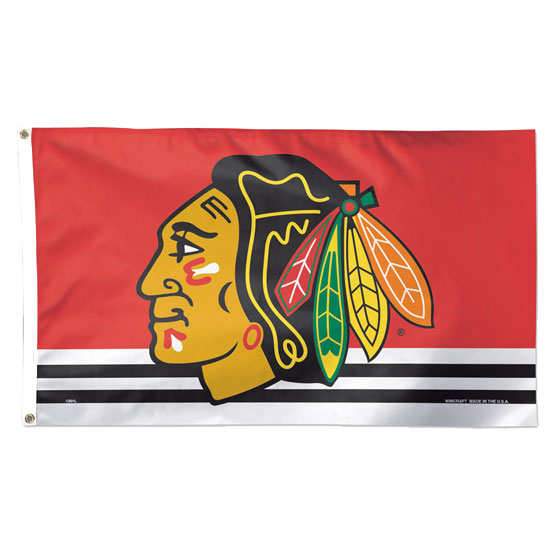 Chicago Blackhawks WinCraft Primary Logo 3' x 5' Deluxe Flag - No Size