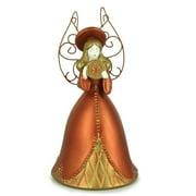 Russ Berrie Golden Renaissance Angel with Star Bell Figurine