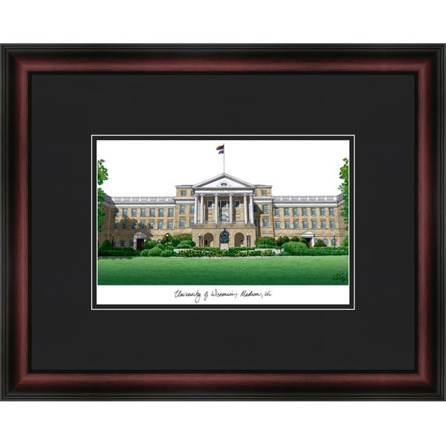 Campus Images WI995A 18'' x 14'' University of Wisconsin Madison Academic Lithograph Framed