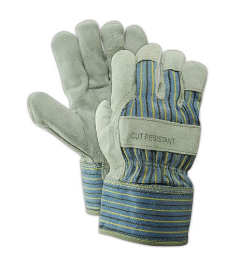 Magid Glove Kevlar DuraMaster Gunn Cut Split Leather Glove, 12 Pair