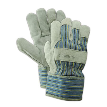 Magid Kevlar DuraMaster Gunn Cut Split Leather Glove, 12 Pair ()