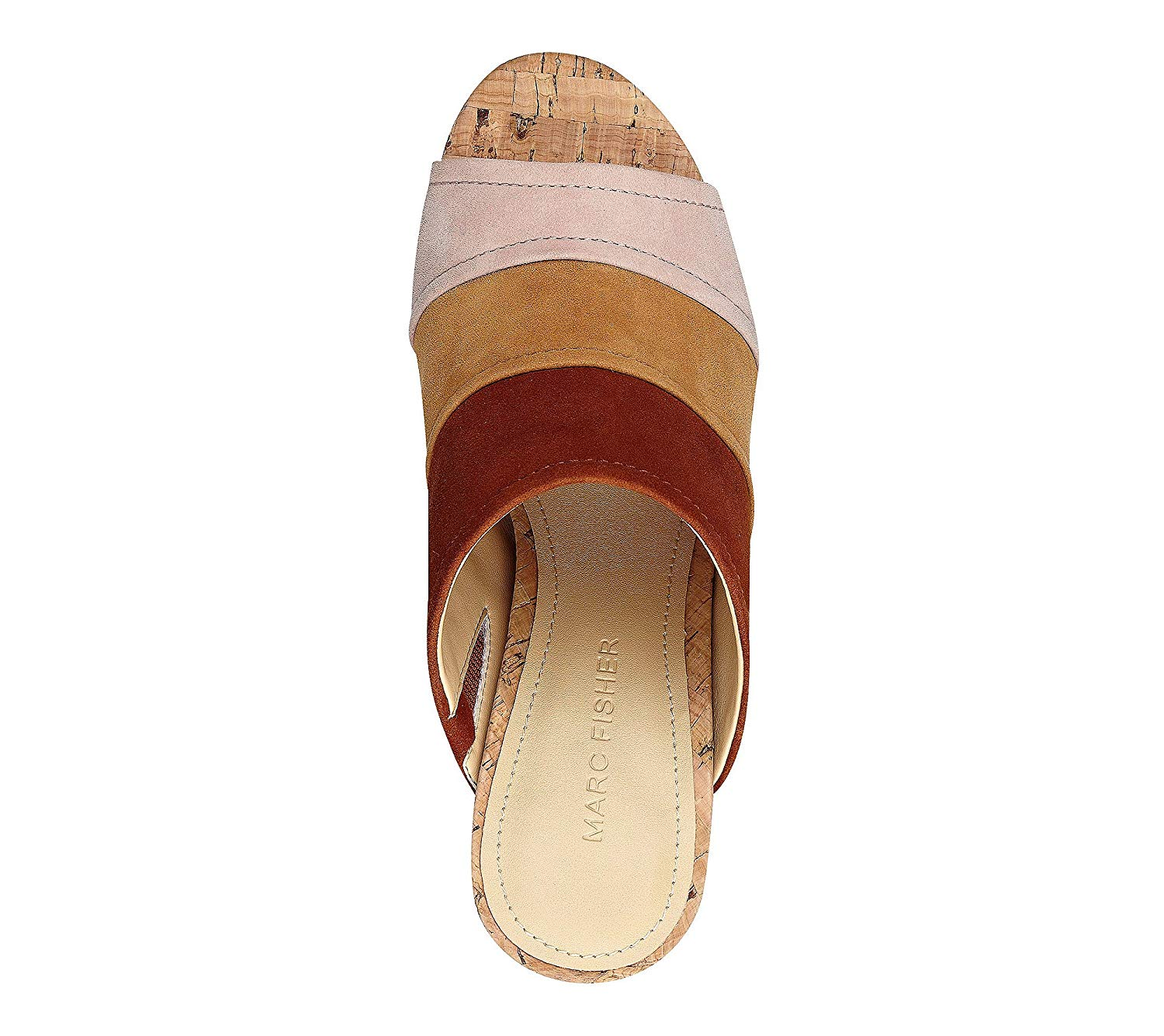 Marc Fisher Womens Prenna Leather Open Toe Casual Mule Sandals