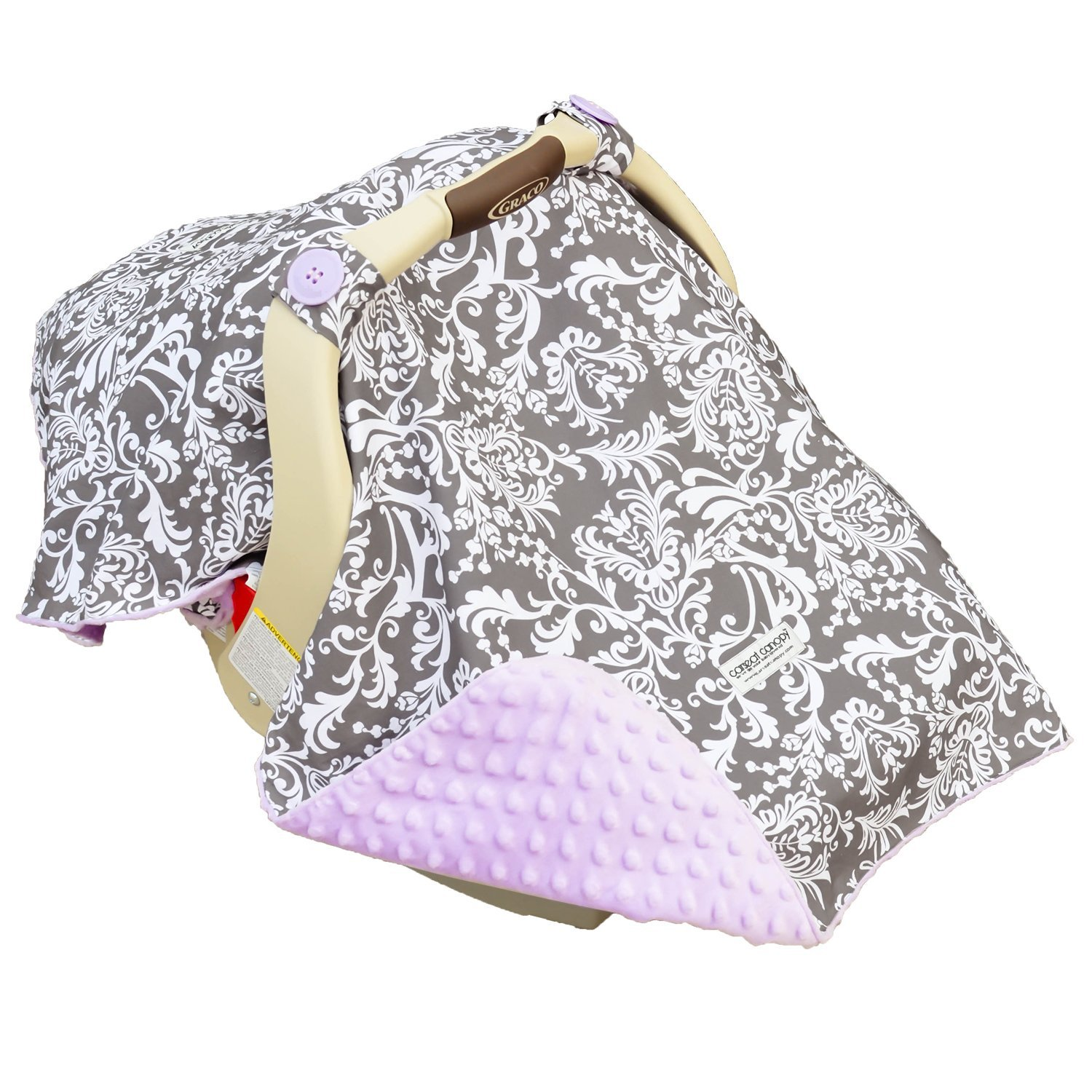 Carseat Canopy 5 Pc Whole Caboodle Baby Car Seat Cover Set No Included Minky Belle
