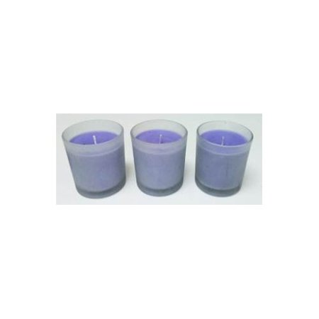 Aromatherapy Hosley® Lavender Highly Scented, Set of 3 Large Frosted Glass Filled Candles 3'H, 4 OZ Each,up to 72 HOUR BURN TIME EACH Bulk Buy, Perfect Votive Gift for WEDDING, - Bulk Sea Glass For Sale