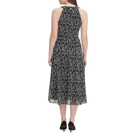 Best Vine Embroidered Halter Dress deal