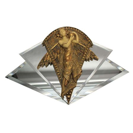 Angel Wall Sculpture (Decorative Art Nouveau Angel Mirrored Wall Sculpture )