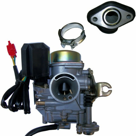 20mm TaoTao 50cc 50 Carburetor & Intake Manifold Boot Scooter Moped Carb NEW ()