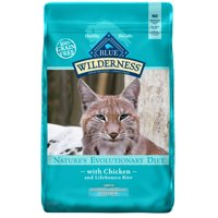 Blue Buffalo Wilderness High Protein Grain Free, Natural Adult Indoor Hairball Control Dry Cat Food, Chicken