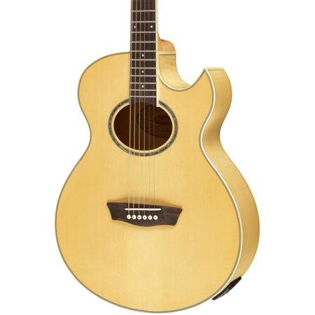 Festival EA20 Spruce Top Acoustic Cutaway Electric Mini Jumbo Flame Maple Guitar with 4-Band EQ
