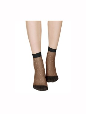 003e7c8ea47 Product Image Unique Bargains Women s Dots Pattern Ankle Stretchy Sheer  Socks