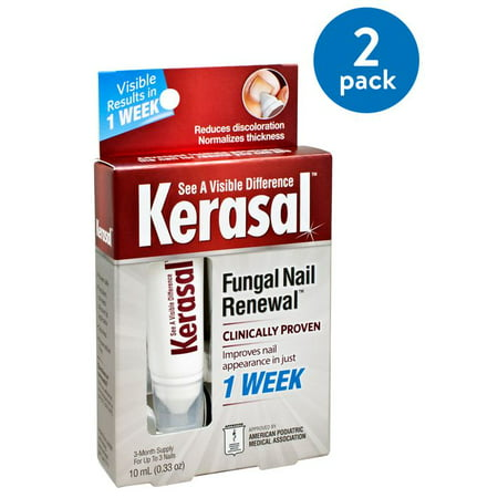 (2 Pack) Kerasal nail Fungal Nail Renewal Treatment, .33