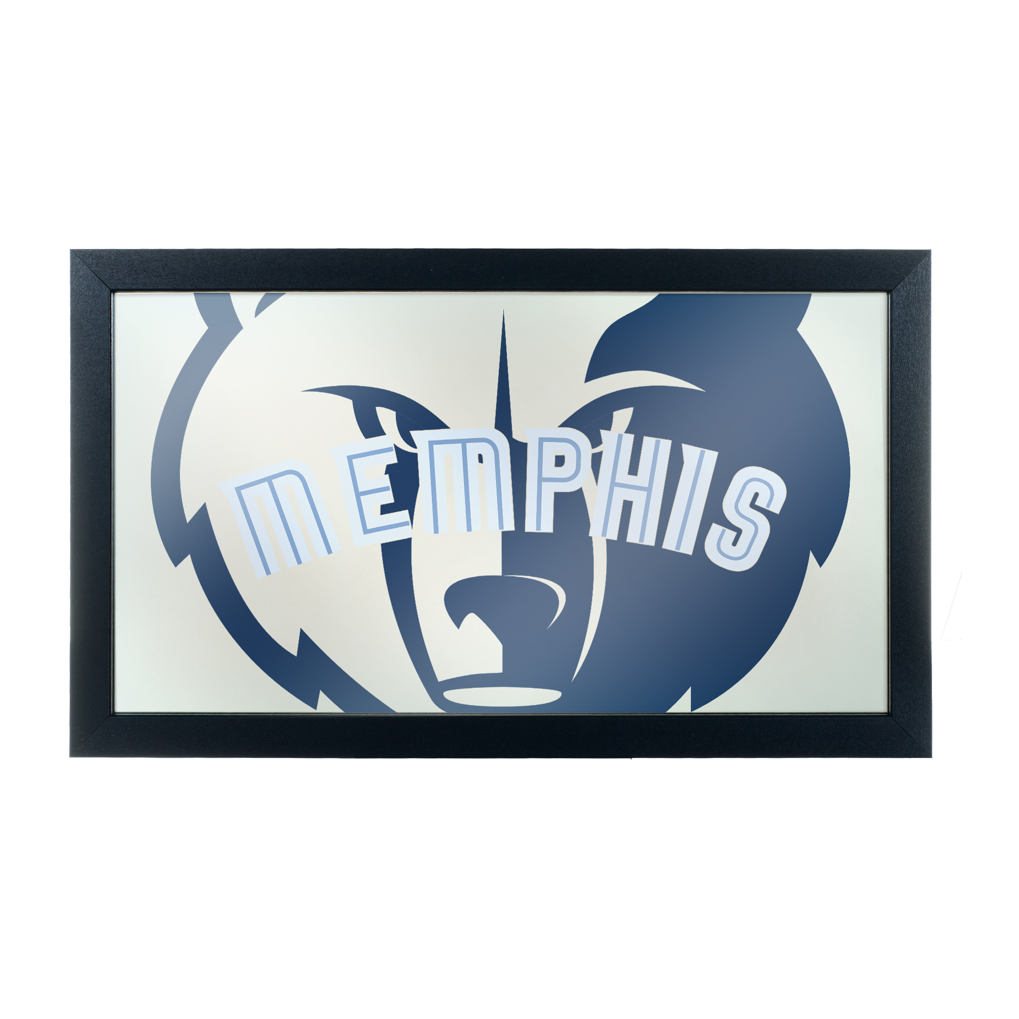 NBA Framed Logo Mirror - Fade - Memphis Grizzlies