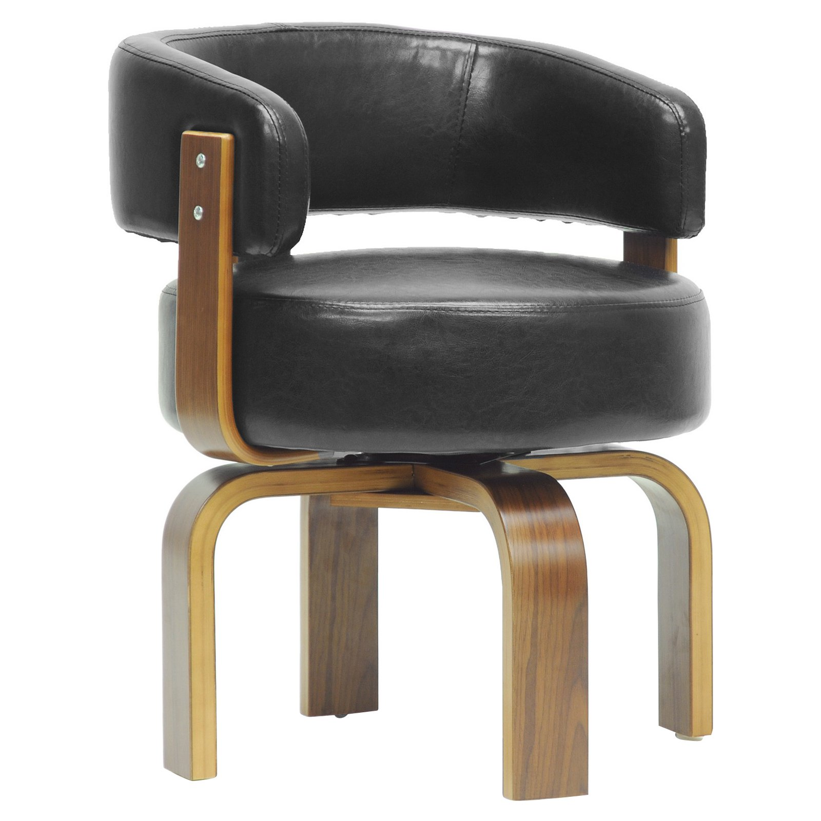 Baxton Studio Fortson Modern Accent Chair   Walnut / Black   Walmart.com