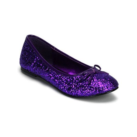 Cute Women's Ballet Flat Shoes Glitter Bow - Glitter Bow Shoes