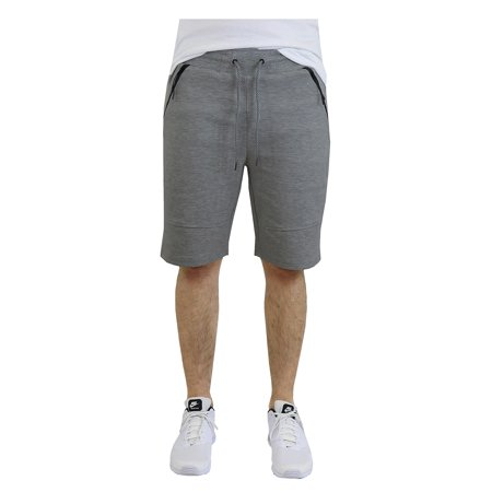 Mens Tech Fleece Shorts With Zipper Pockets