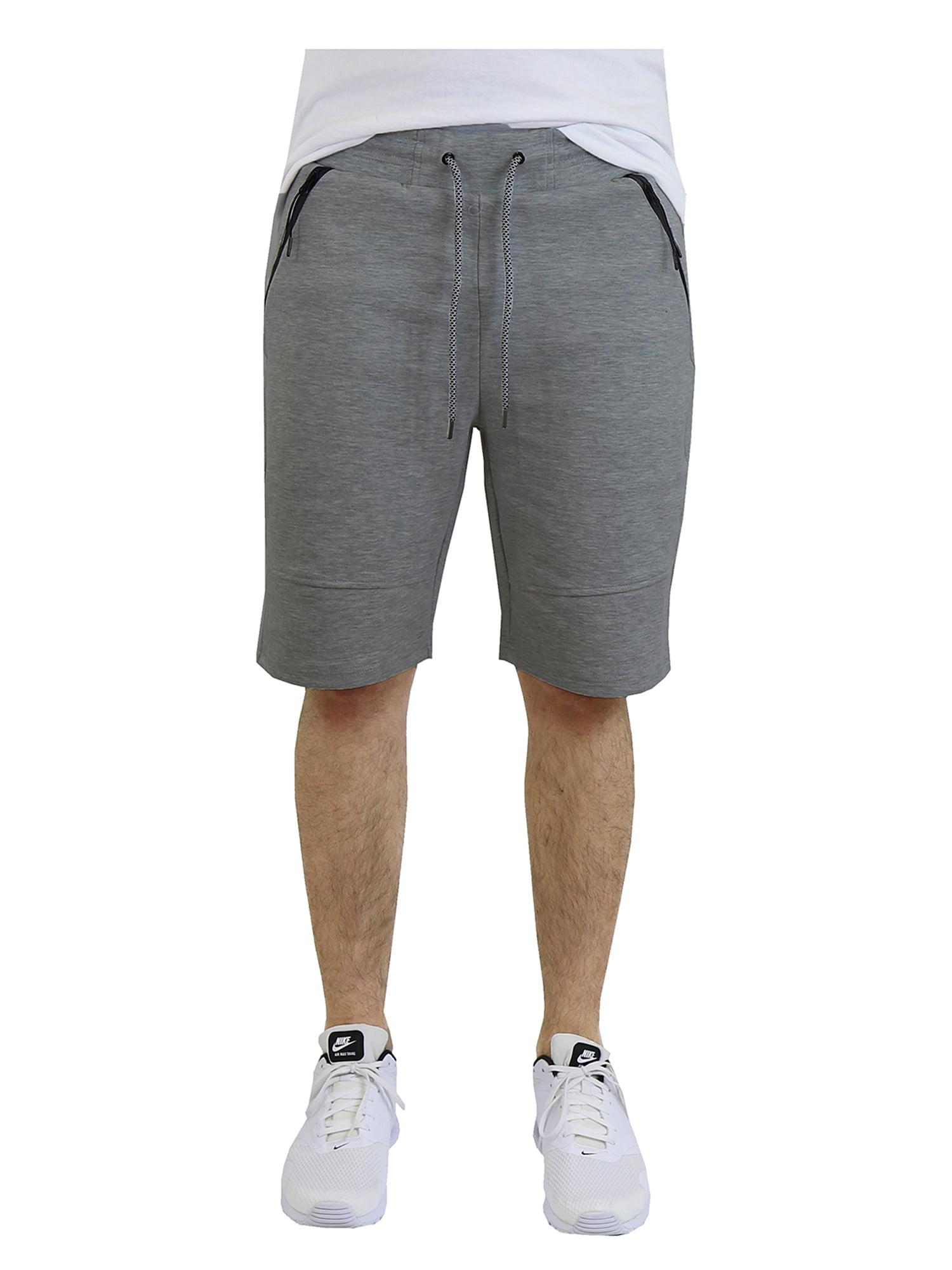 Mens Tech Fleece Shorts With Zipper Pockets