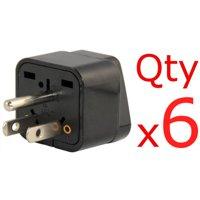 6 Pack AU UK EU Europe To US USA American Plug Adapter Euro Asia To U.S.