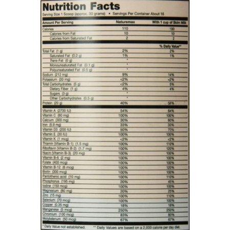 Maxi Santé Naturemax de protéines de soja Régime alimentaire et énergie de soutien, à la vanille crémeuse